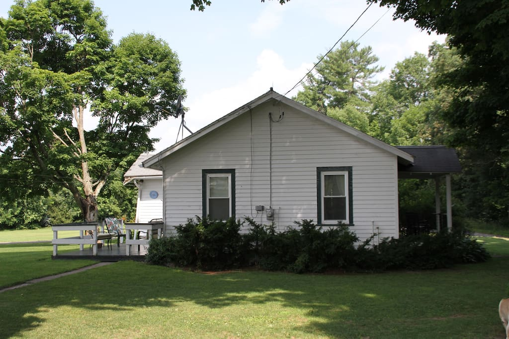 East Side view of guest cottage