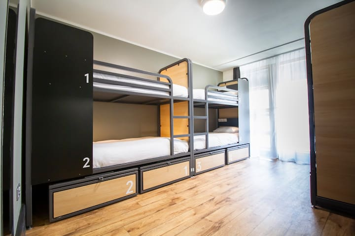 Bed in 6 Bed Dorm Private Facilities