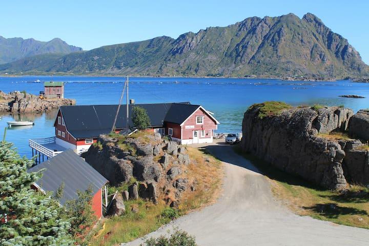 Flott leilighet med havutsikt i Lofoten.