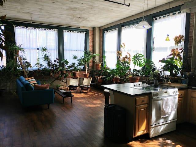 Guest suite in downtown loft