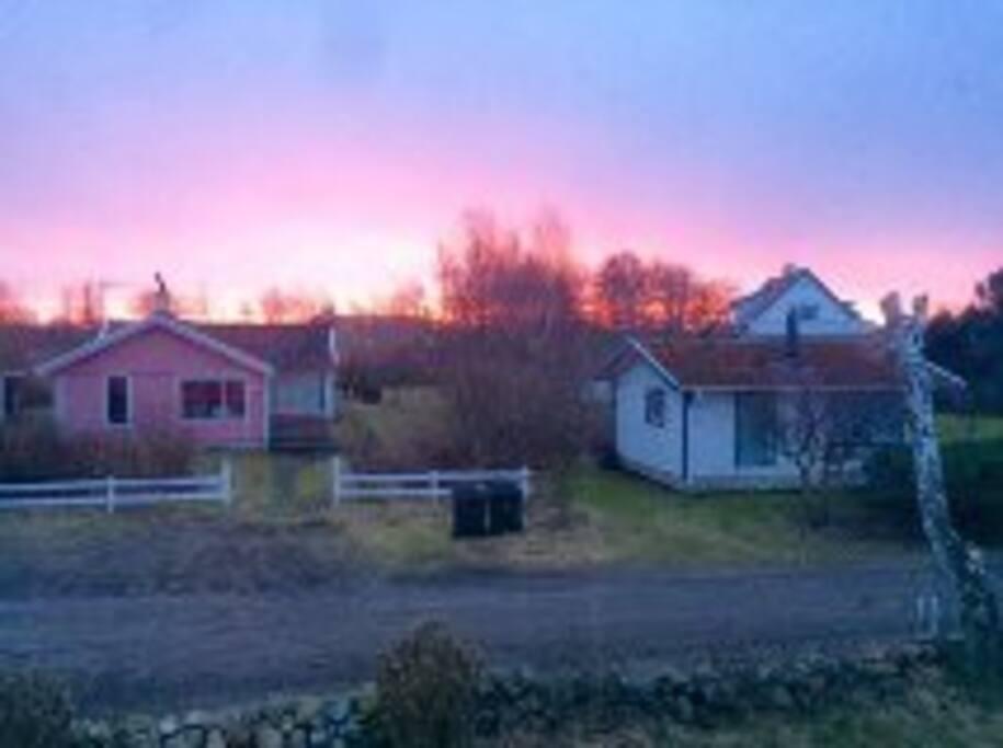 Huset (rosa) exteriört