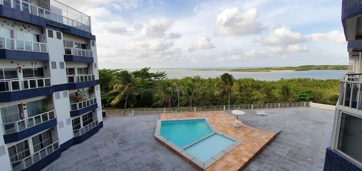Apartamento com vista p/ praia ao lado Hotel Solar