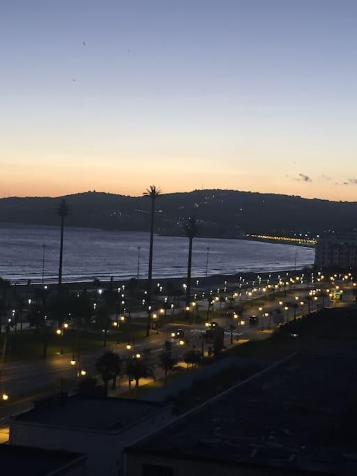 Uitzicht zonsopkomst