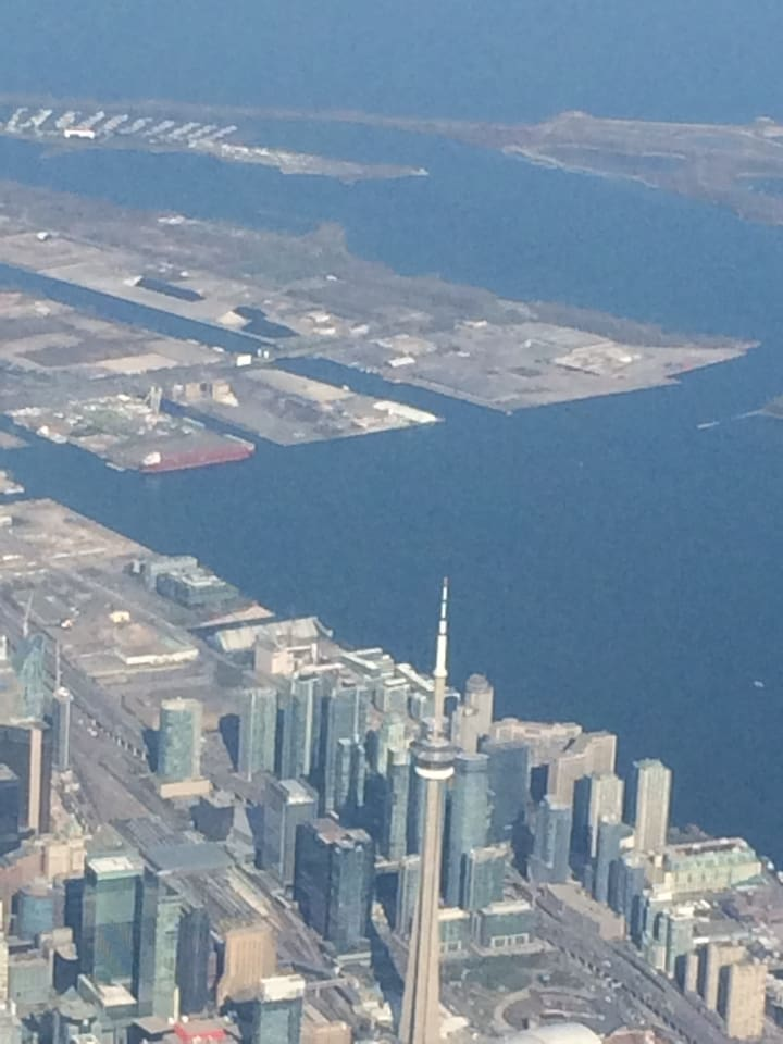 condo is behind the CN tower