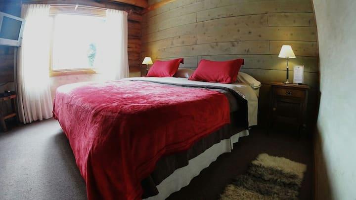 Habitacion para 2 personas, en Cabaña de Montaña, Patagonia, Argentina