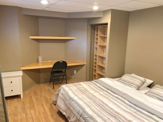 Spacious guest suite in the basement of a 2-storey