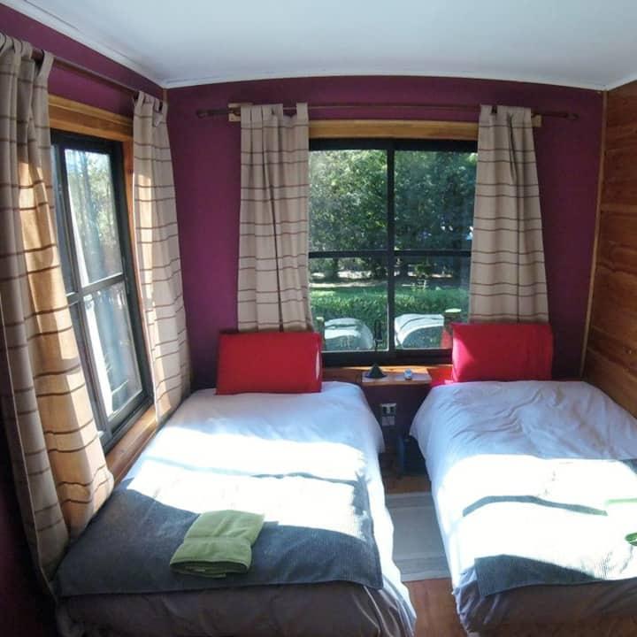Habitacion 2 camas + tinaja caliente + hidromasaje