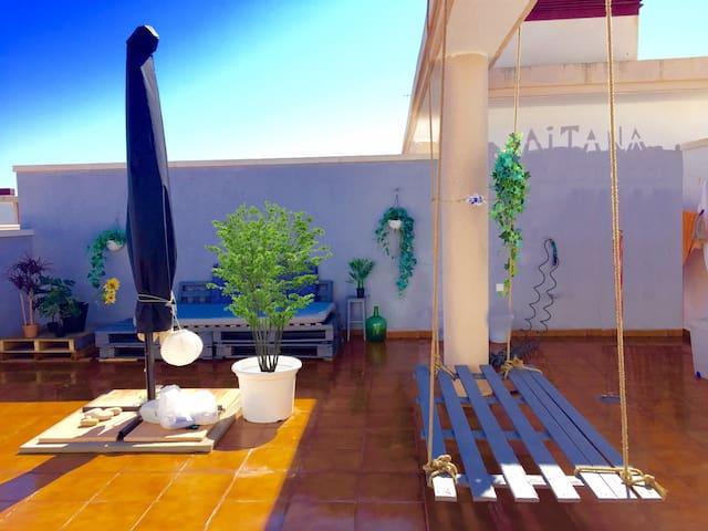 Atico en la playa 120 m. solarium privado - La Llosa - Condominio