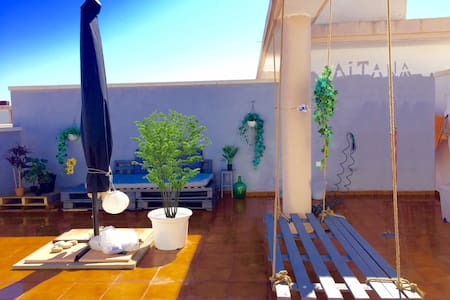 Atico en la playa 120 m. solarium privado - La Llosa - Appartement