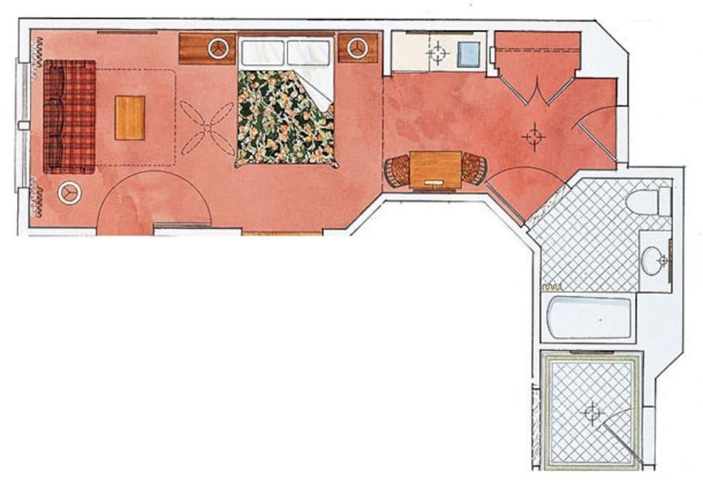 Floorplan - Spacious Studio