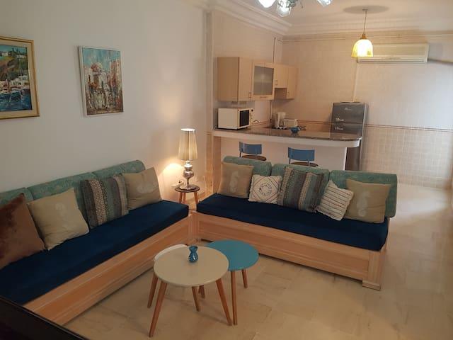 Agréable appartement bleu