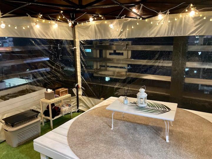 하루애 옥상 글램핑 &일반실 Rooftop BBQ available+private room