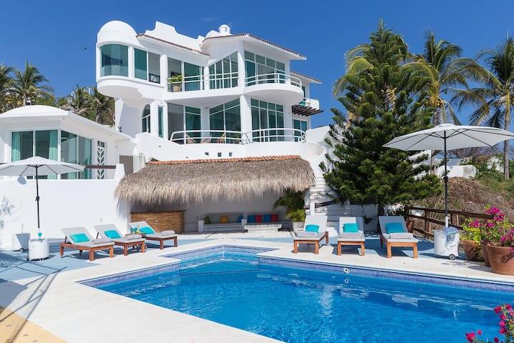 Magnifique Villa privée piscine pr 8-10 Zipolite