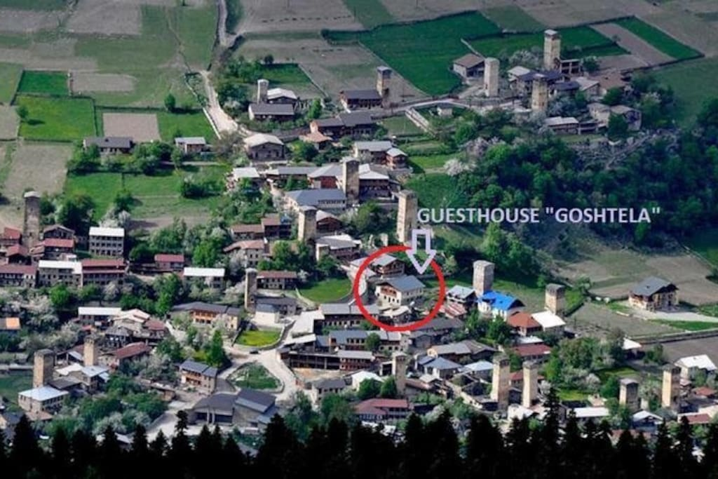 Our location in Mestia