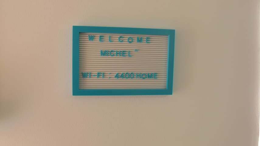 Clear communication of Wifi Access and personal greetings for every guest.