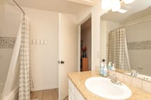 Newly remodeled with granite counter, new shower tile, toilet, paint and flooring.
