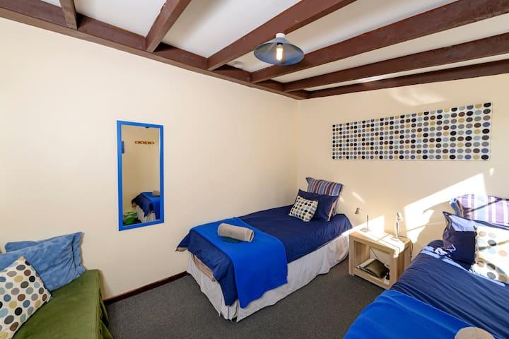 Twin room at Kinloch Wilderness Retreat