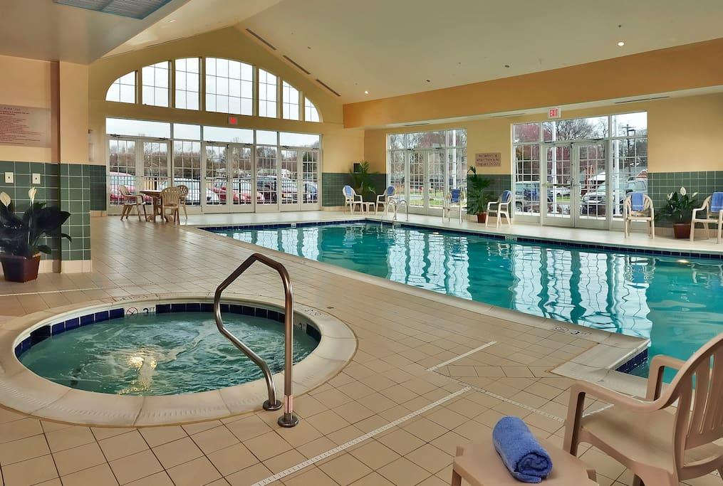 Heated Indoor Pool and Hot Tub