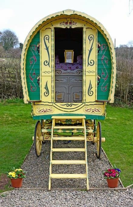 Original bow top gypsy caravan