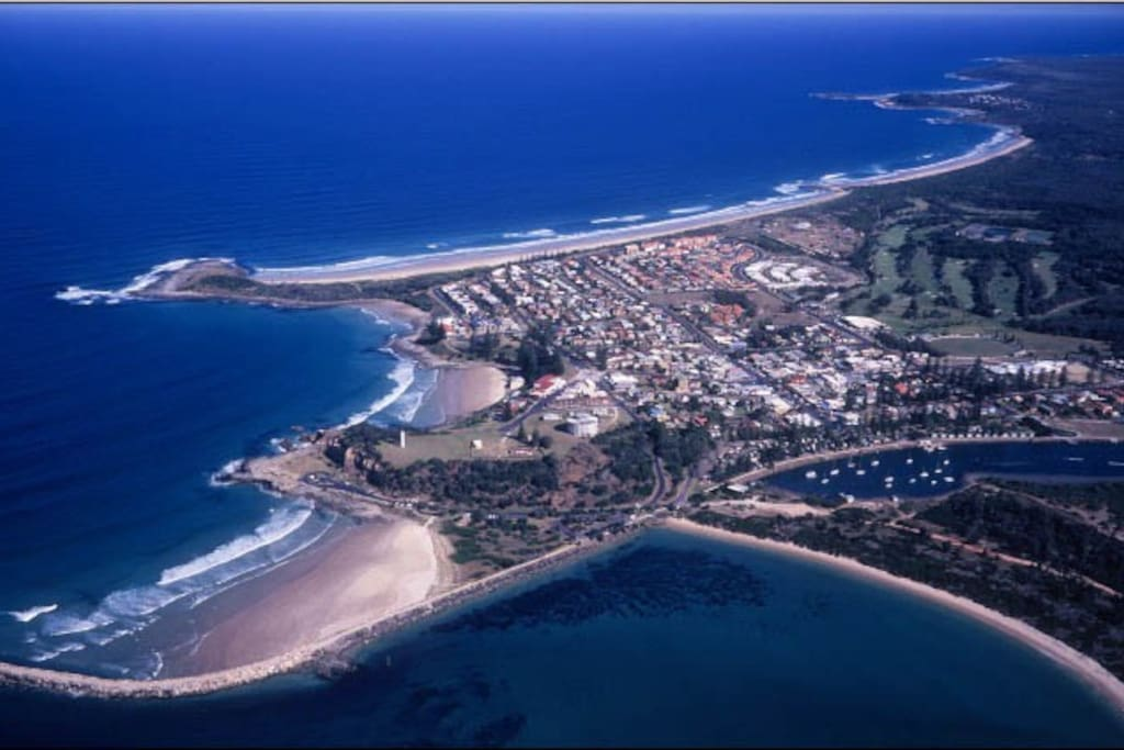 Aerial picture of Yamba