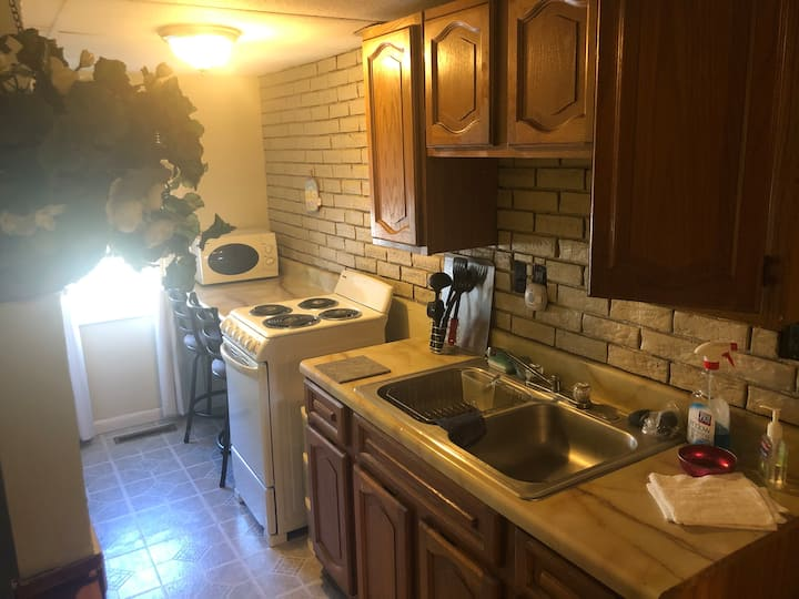 Quaint Galley Kitchenette and Suite