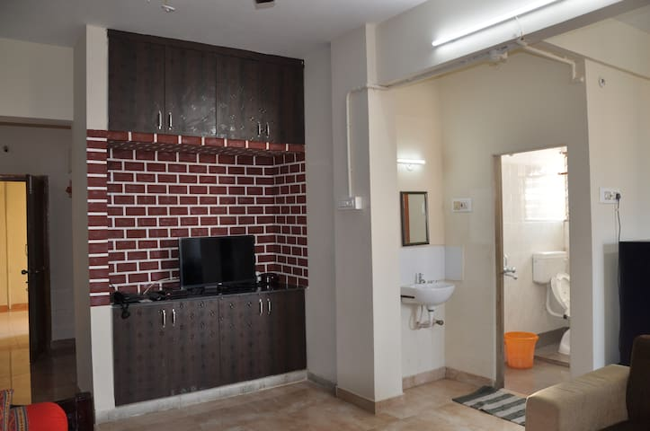 Vallurupalli's 1BHK AC Apartment