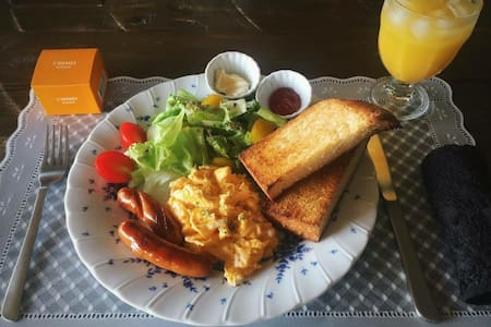 RachelCafe B&B Freshly Breakfast!! Room C 2people - 中頭郡 - Bed & Breakfast