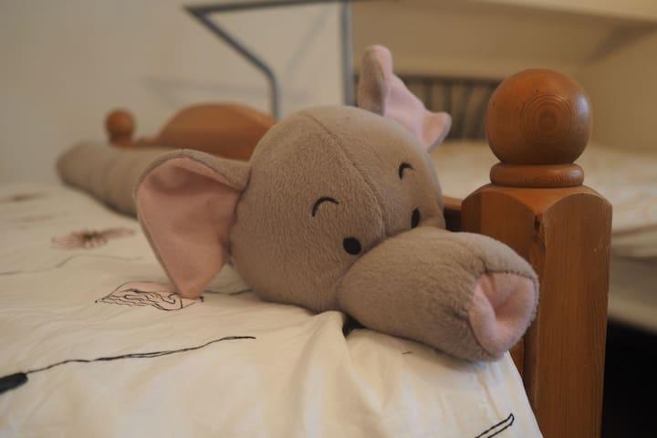 Gedeelde en relaxte (gezins-)slaapkamer in Drenthe - Drogteropslagen