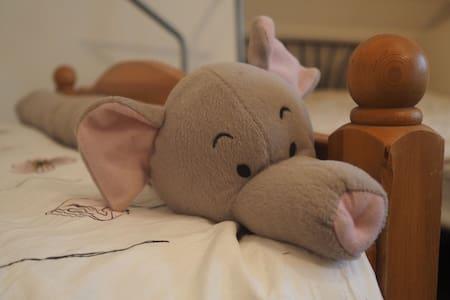 Gedeelde en relaxte (gezins-)slaapkamer in Drenthe - Drogteropslagen - Huis