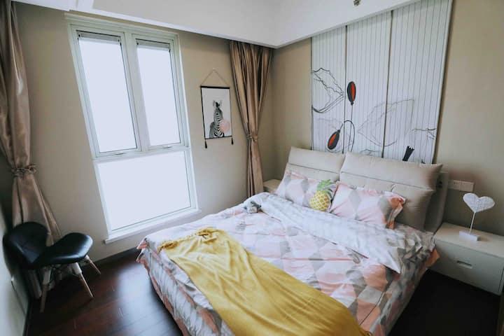 辛夷.萌之家 东关街、个园、瘦西湖小清新公寓,60平高层、四季恒温宜居,俯瞰扬州城美景