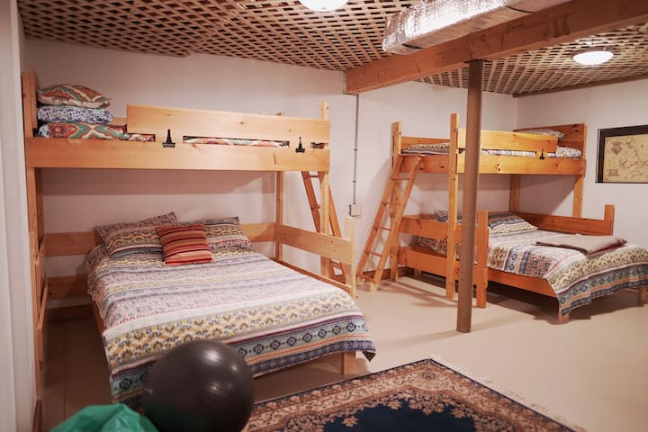 Basement Beds - Two Full and Two Twins