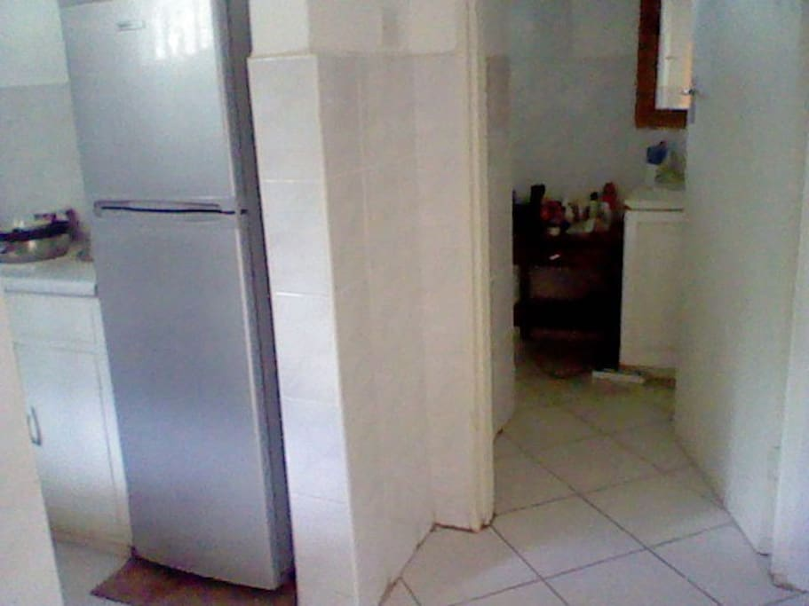 Kitchen to Bathroom area