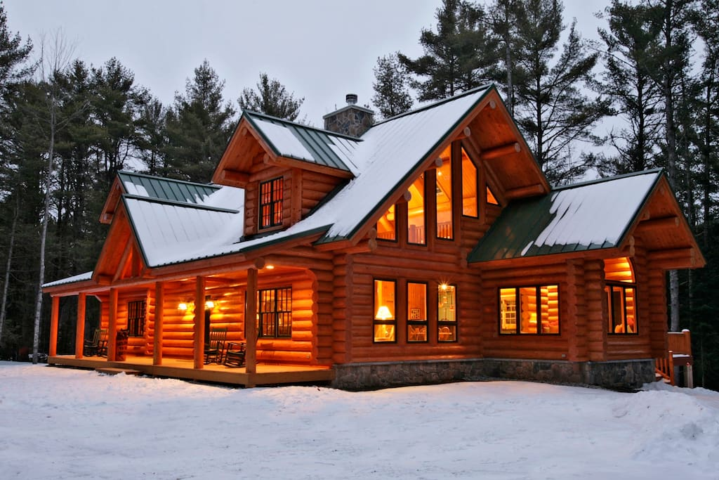 Big bear luxury log cabin sebago naples windham for Anthony lakes cabin rentals