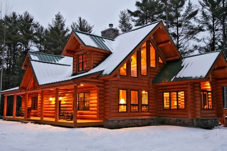 Big Bear Log Cabin-Luxury-Maine-Southern Maine - Harrison