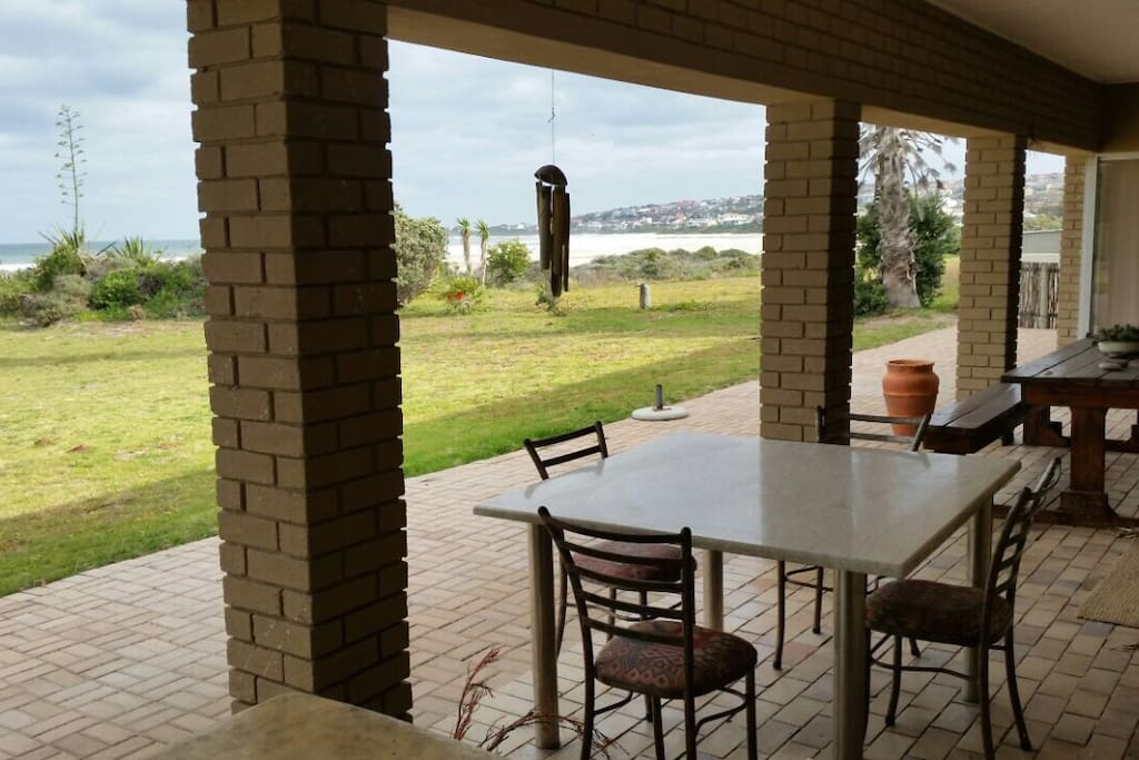 Patio view with an outdoor braai area