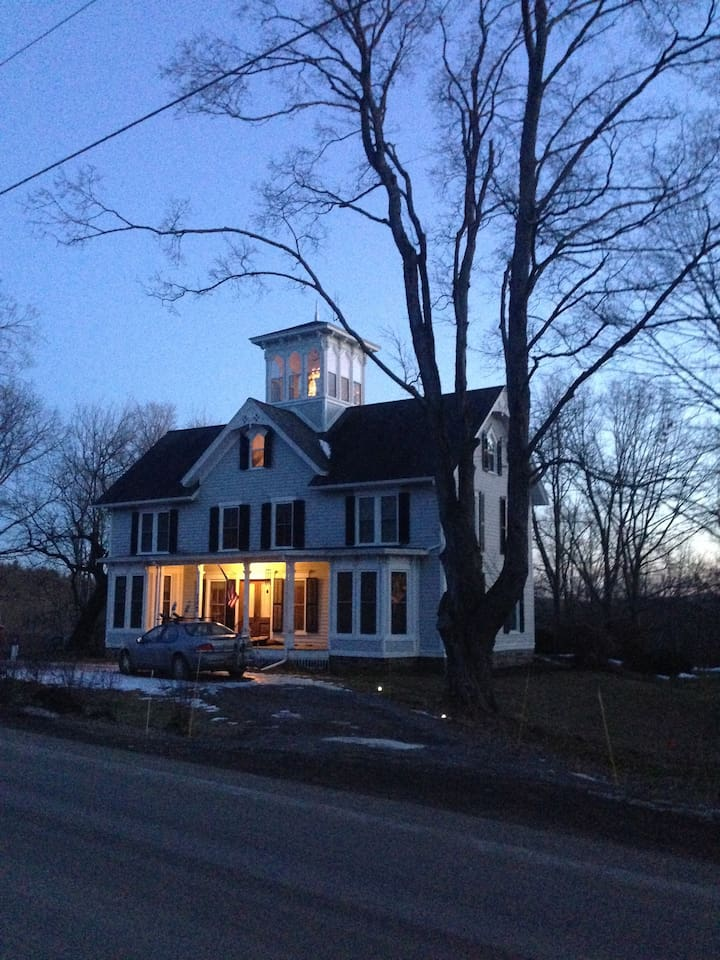 Italianate Victorian on 3.5 acres, with cupola and pond and resident artist studio