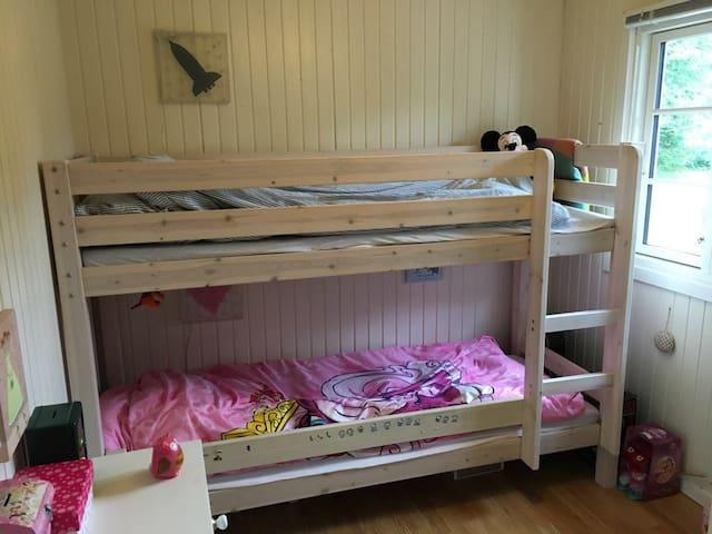 Children's room with bunk bed.