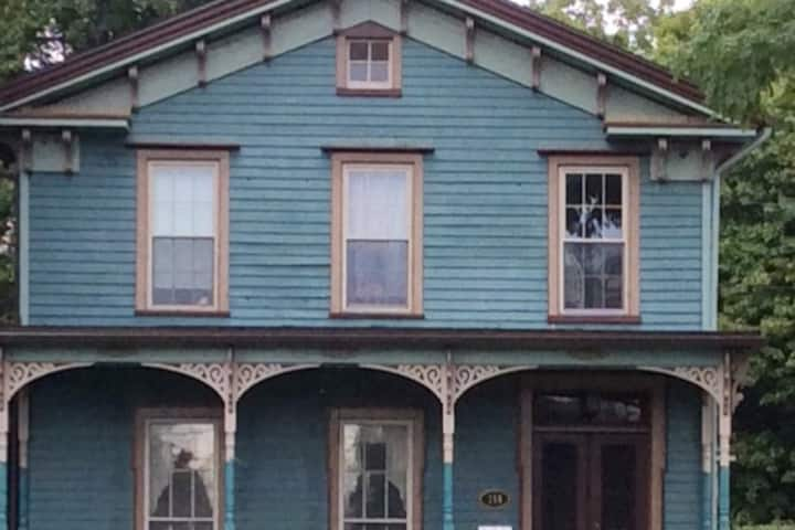 Historic Penn Yan Victorian studio sep. kitchen