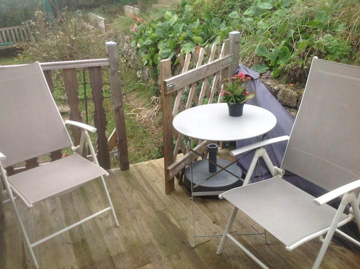 chalet Pitchoun Terrasse jardinet prés de Sophia