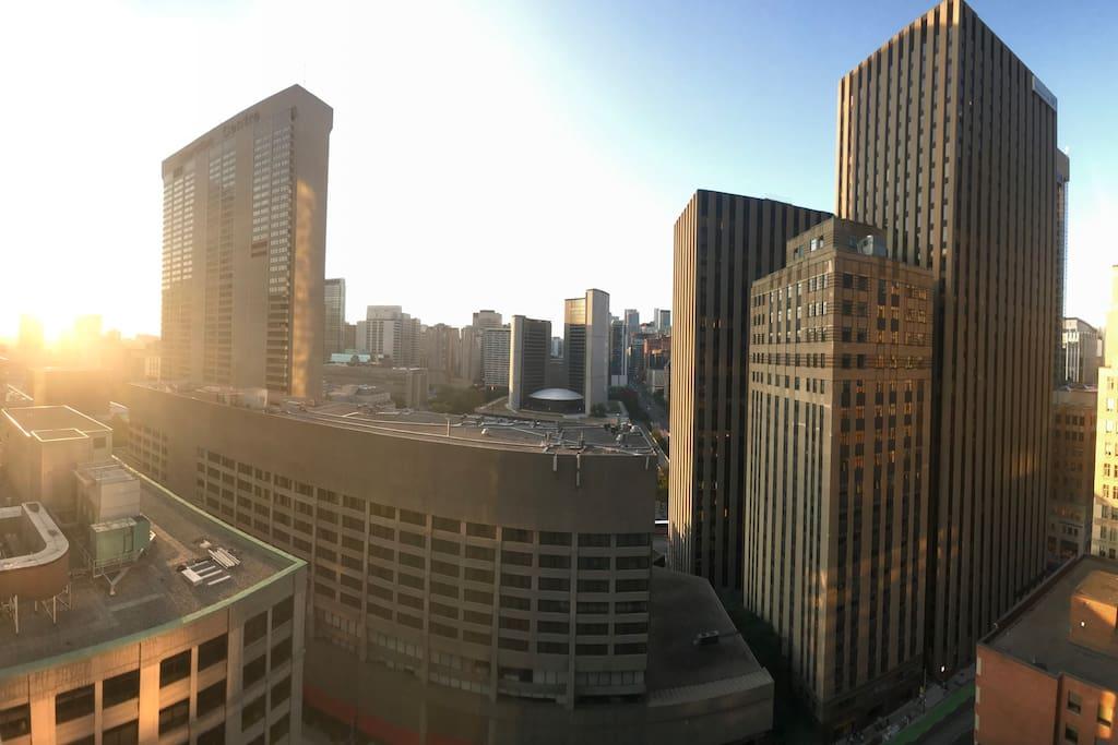 View from balcony on CityHall of Toronto