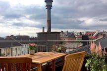 Entspannen auf der Dachterasse/  Relax on the  roof terrace