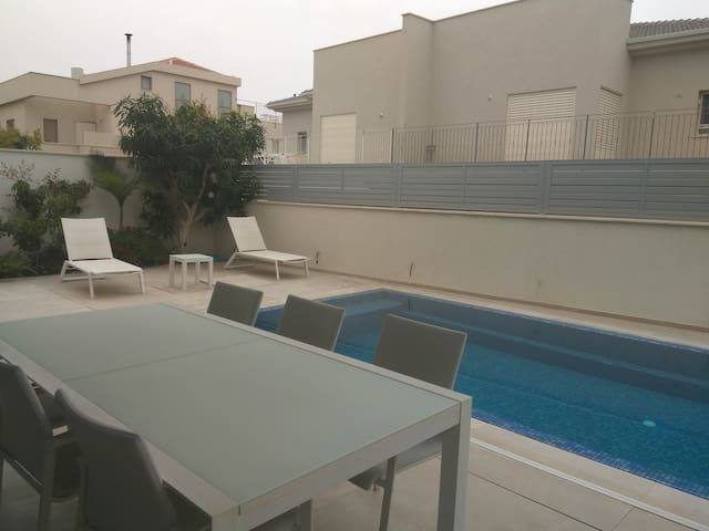 lovely new guest house with pool near Tel Aviv