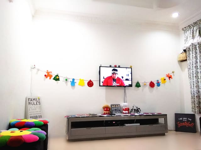 Living Room Area, TV equips with Astro Channel~