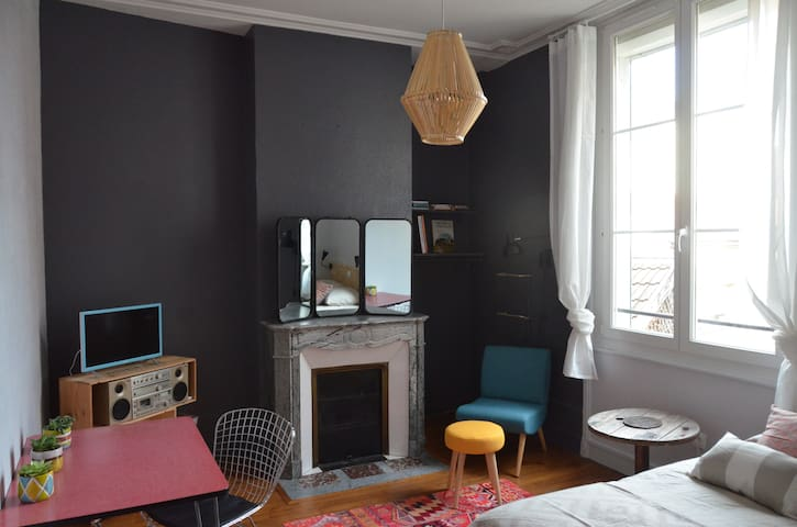 Charming studio - Reims center - Reims - Apartamento