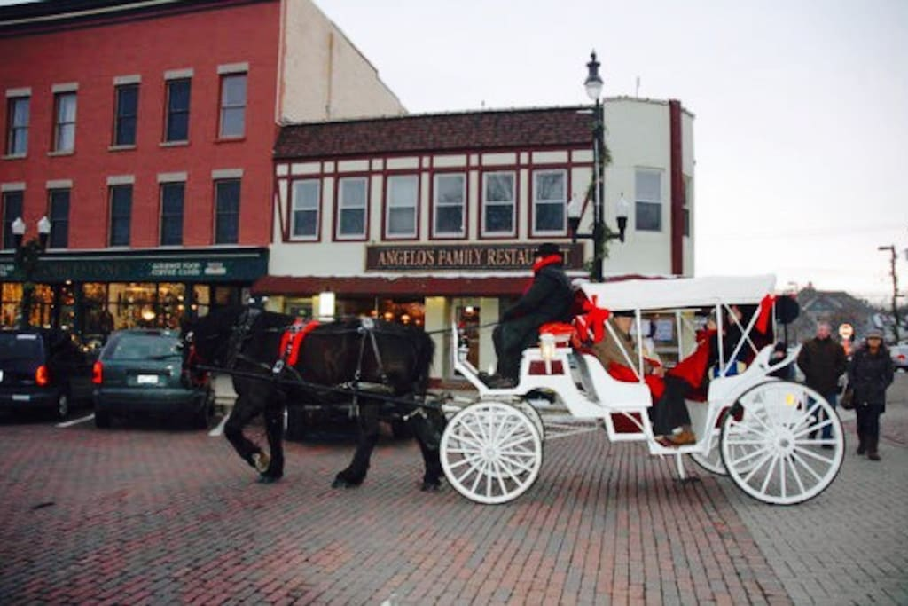 Our location is 100% 5 Stars!  Walk to the train, the beautiful historic Square for entertainment, theater, great food or a carriage ride during the holidays.