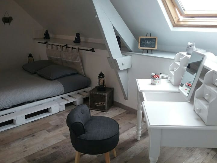 "Chambre 28m2 ""Coquelicot"" bed & breakfast"