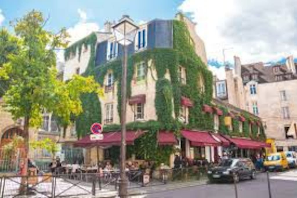 Le Marais is wonderful.. Just walk at see around the house !