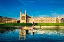 The beautiful view of Kings College Cambridge from the river