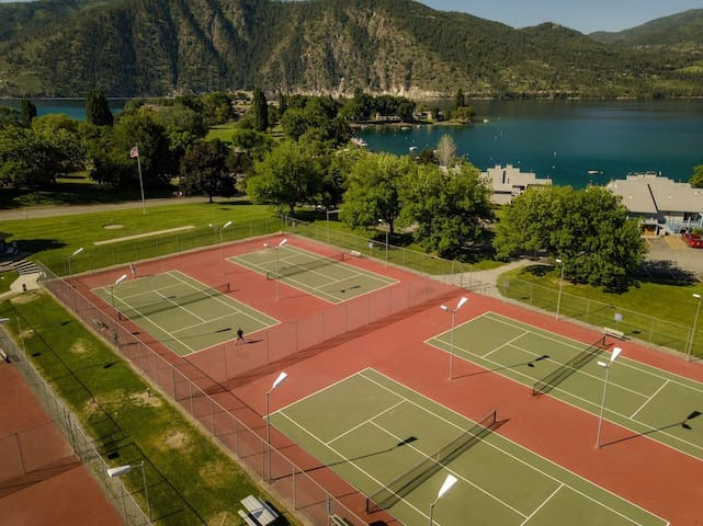 Six lighted Tennis  Courts