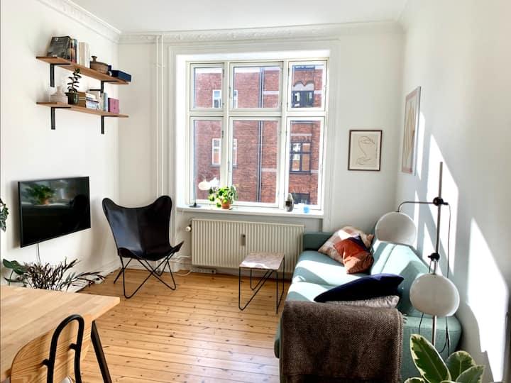 Bright and cosy apartment next to Nørrebroparken